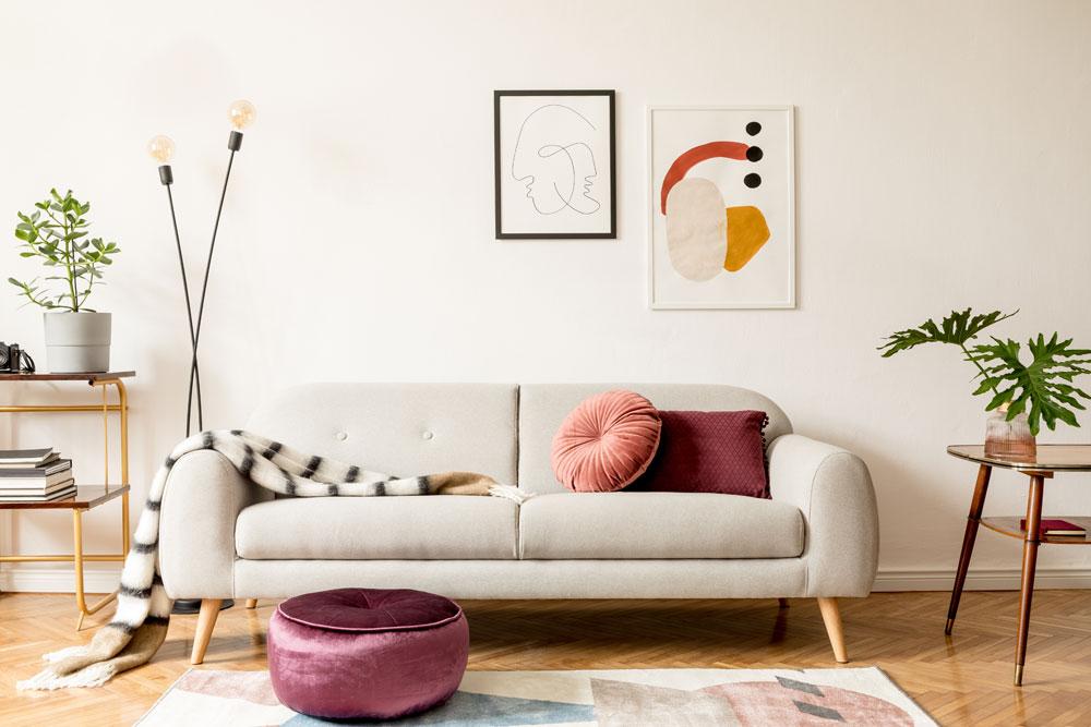 Wohnzimmer, Sofa im japandi Stil